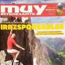 Coleccionismo de Revista Muy Interesante: REVISTA MUY INTERESANTE - Nº 362 JULIO 2011 - SER IRRESPONSABLES - TELEPATÍA - APPS - MEDUSAS. Lote 280108423