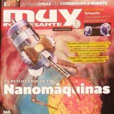 Coleccionismo de Revista Muy Interesante: REVISTA MUY INTERESANTE - Nº 365 OCTUBRE 2011 - NANOMAQUINAS - PODERES Y SECRETOS DE LA VOZ. Lote 280108758