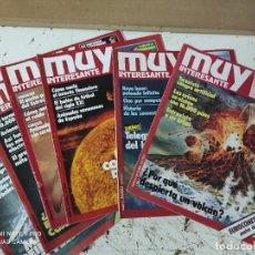 Coleccionismo de Revista Muy Interesante: LOTE DE REVISTAS MUY INTERESANTE AÑOS 1981 Y 1982 PRIMEROS NUMEROS. Lote 287743693