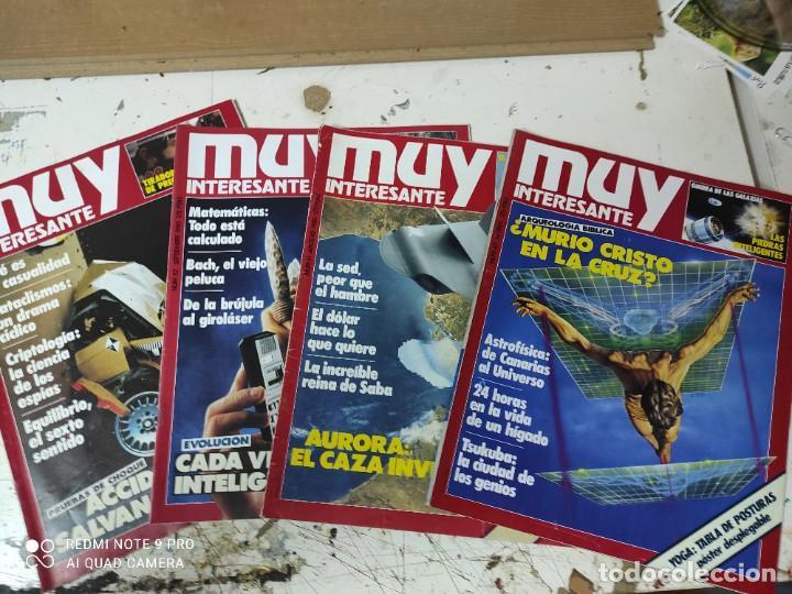 LOTE DE REVISTAS MUY INTERESANTE AÑOS 1985 PRIMEROS NUMEROS (Coleccionismo - Revistas y Periódicos Modernos (a partir de 1.940) - Revista Muy Interesante)
