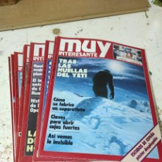 Coleccionismo de Revista Muy Interesante: LOTE DE 9 REVISTAS MUY INTERESANTE AÑOS 1986 PRIMEROS NUMEROS. Lote 287746423