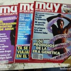 Coleccionismo de Revista Muy Interesante: LOTE DE 8 REVISTAS MUY INTERESANTE AÑOS 1993 PRIMEROS NUMEROS. Lote 287747968