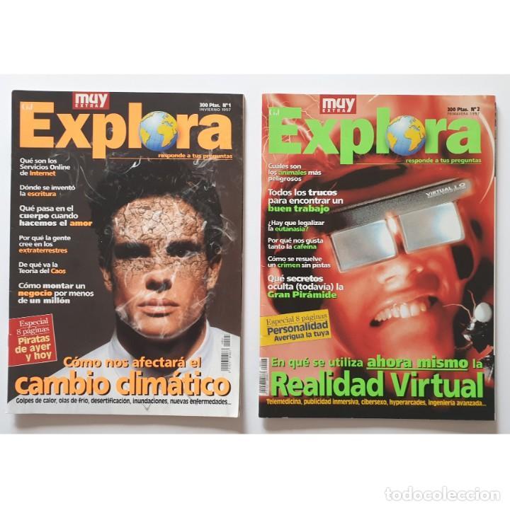 MUY EXTRA EXPLORA Nº 1 Y 2 (1997) REVISTA MUY INTERESANTE (Coleccionismo - Revistas y Periódicos Modernos (a partir de 1.940) - Revista Muy Interesante)
