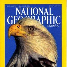 Coleccionismo de National Geographic: REVISTA NATIONAL GEOGRAPHIC - JULIO 2002 - ÁGUILAS CALVAS, MAGESTUOSIDAD EN MOVIMIENTO. Lote 8747160