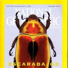 Coleccionismo de National Geographic: REVISTA NATIONAL GEOGRAPHIC - FEBRERO 2001 - ESCARABAJOS JOYA. Lote 8747757