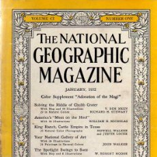 Coleccionismo de National Geographic: THE NATIONAL GEOGRAPHIC MAGAZINE - ED. USA - JANUARY 1952 - EN INGLÉS. Lote 14384691