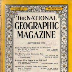 Coleccionismo de National Geographic: THE NATIONAL GEOGRAPHIC MAGAZINE - ED. USA - NOVEMBER 1952 - EN INGLÉS - PAKISTAN - MARINELAND.... Lote 27274006