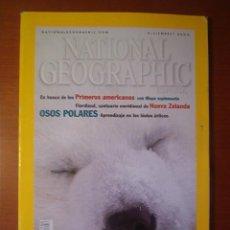 Coleccionismo de National Geographic: NATIONAL GEOGRAPHIC ESPAÑA DICIEMBRE 2000 -- OSOS POLARES --. Lote 15537618