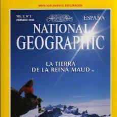 Coleccionismo de National Geographic: REVISTA NATIONAL GEOGRAPHIC - VOL.2, Nº 2 - FEBRERO 1998 - LA TIERRA DE LA REINA MAUD. Lote 16331349