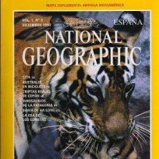 Coleccionismo de National Geographic: REVISTA NATIONAL GEOGRAPHIC - VOL.1, Nº 3 - DICIEMBRE 1997 - TIGRES. Lote 45935799