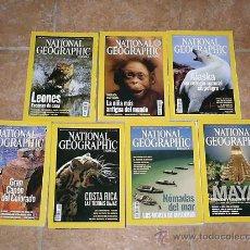 Coleccionismo de National Geographic: 7 REVISTAS DE NATIONAL GEOGRAPHIC. Lote 26966315