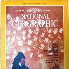 Coleccionismo de National Geographic: NATIONAL GEOGRAPHIC MAGAZINE - JULIO 1988 - INGLES - ATLANTA - KOURION EARTHQUAKE - MOORS IN SPAIN. Lote 186185221