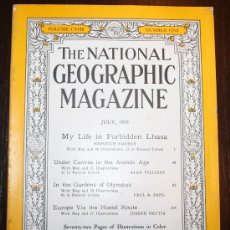 Coleccionismo de National Geographic: THE NATIONAL GEOGRAPHIC MAGAZINE - ED. USA - JULIO 1955 - EN INGLÉS - LHASA, OLIMPO.... Lote 26442798