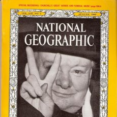 Collectionnisme de National Geographic: NATIONAL GEOGRAPHIC. ED. INGLESA.VOL 128. Nº 2. AGOSTO 1965. CHURCHILL. AMISH. PENNSYLVANIA. RIFT.. Lote 27126363
