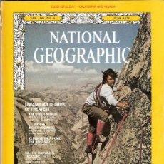 Coleccionismo de National Geographic: NATIONAL GEOGRAPHIC. ED INGLESA.VOL 145. JUNIO 1974. YOSEMITE. HALF DOME. PETROLEO. REMEROS DE BURMA. Lote 27710119