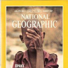 Coleccionismo de National Geographic: NATIONAL GEOGRAPHIC. ED INGLESA.VOL 172. N 2. AGOSTO 1987. ARTE RUPESTRE EN EL SAHARA. ALCES.. Lote 28362646