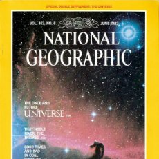 Coleccionismo de National Geographic: NATIONAL GEOGRAPHIC. ED INGLESA.VOL 163. N 6. JUNIO 1983. UNIVERSO. TAMESIS. GUERREROS DE BRONCE.. Lote 28776928