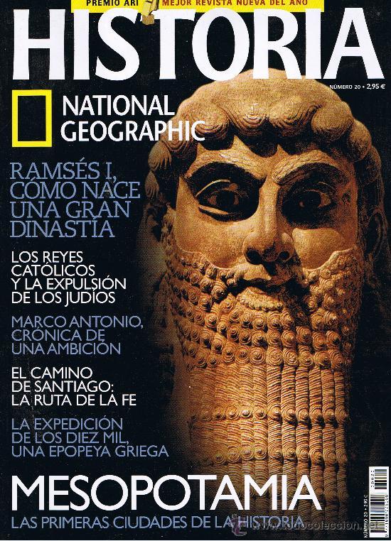 NATIONAL GEOGRAPHIC - HISTORIA - Nº 20 (Coleccionismo - Revistas y Periódicos Modernos (a partir de 1.940) - Revista National Geographic)