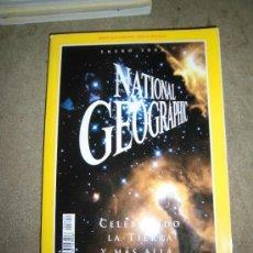Coleccionismo de National Geographic: REVISTA NATIONAL GEOGRAPHIC ESPAÑOL ENERO 2000.-CELEBRANDO LA TIERRA Y MAS ALLA MAPA SUPLEMENTO GREC. Lote 35979896