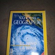 Coleccionismo de National Geographic: REVISTA NATIONAL GEOGRAPHIC ESPAÑOL VOL.4-Nº 3.MARZO 1999.-EL NIÑO EL CICLO VICIOSO DE LA NATURALEZA. Lote 35980529