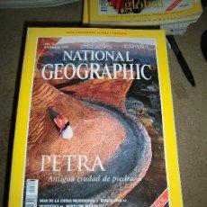 Coleccionismo de National Geographic: REVISTA NATIONAL GEOGRAPHIC ESPAÑOL VOL.3-Nº 6.DICIE 1998.-PETRA ANTIGUA CIUDAD DE PIEDRA MAPA ESPAÑ. Lote 35980682