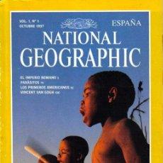 Coleccionismo de National Geographic: REVISTA NATIONAL GEOGRAPHIC Nº 1, OCTUBRE1997, IMPERIO ROMANO, ZAMBEZE ABAJO, PARASITOS,VAN GOGH. Lote 38126285
