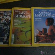 Coleccionismo de National Geographic: LOTE DE 3 REVISTAS NATIONAL GEOGRAPHIC OCTUBRE NOVIEMBRE DICIEMBRE 1997 ESPAÑA. Lote 42294215