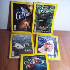Coleccionismo de National Geographic: LOTE DE 5 REVISTAS NATIONAL GEOGRAPHIC AÑO 2000 (NO INCLUYE MAPAS SUPLEMENTO). Lote 42338967
