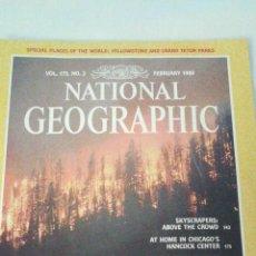 Coleccionismo de National Geographic: REVISTA NATIONAL GEOGRAPHIC. FEBRERO 1989. INCLUYE PLANO DESPLEGABLE. Lote 44928062