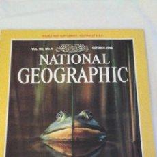 Coleccionismo de National Geographic: REVISTA NATIONAL GEOGRAPHIC. OCTUBRE 1992. INCLUYE PLANO DESPLEGABLE. Lote 44928113
