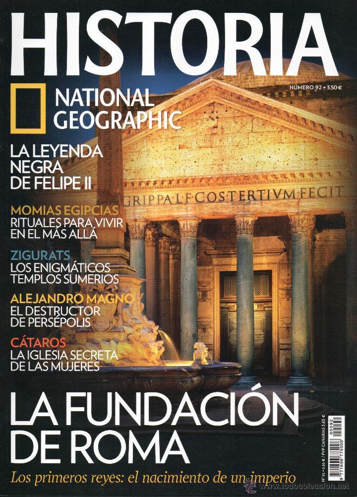 HISTORIA NATIONAL GEOGRAPHIC N. 92 - EN PORTADA: LA FUNDACION DE ROMA (NUEVA) (Coleccionismo - Revistas y Periódicos Modernos (a partir de 1.940) - Revista National Geographic)