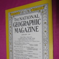 Collectionnisme de National Geographic: THE NATIONAL GEOGRAPHIC MAGAZINE JANUARY 1954. Lote 48996823