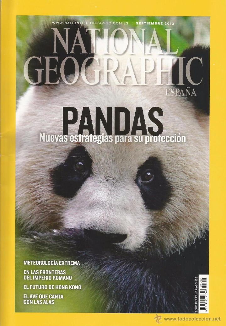 NATIONAL GEOGRAPHIC SEPTIEMBRE 9 / 2012 PANDAS: SU PROTECCIÓN EL FUTURO DE HONG KONG METEOROLOGÍA (Coleccionismo - Revistas y Periódicos Modernos (a partir de 1.940) - Revista National Geographic)