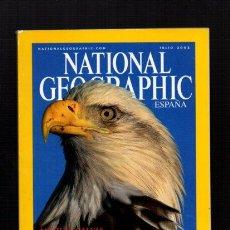 Coleccionismo de National Geographic: NATIONAL GEOGRAPHIC - JULIO 2002 - ÁGUILAS CALVAS, MAJESTUOSIDAD EN MOVIMIENTO - EN ESPAÑOL. Lote 50033940