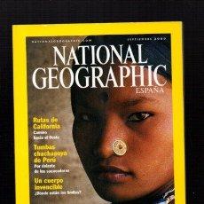 Coleccionismo de National Geographic: NATIONAL GEOGRAPHIC - SEPTIEMBRE 2000 - RANA THARU, ENCANTO DE MUJER - EN ESPAÑOL. Lote 50034011