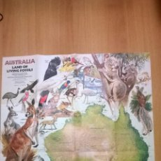 Coleccionismo de National Geographic: NATIONAL GEOGRAPHIC - MAPA FAUNA AUSTRALIANA - 1979 (ED. INGLÉS). Lote 50293145
