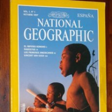 Coleccionismo de National Geographic: NATIONAL GEOGRAPHIC (VOL. 1, Nº 1) OCTUBRE 1997, PRIMER NÚMERO EN ESPAÑOL DE ESTA FAMOSA PUBLICACIÓN. Lote 51068304