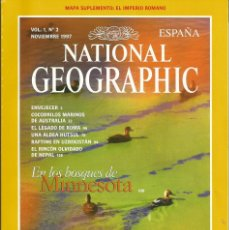 Coleccionismo de National Geographic: REVISTA NATIONAL GEOGRAPHIC. 1997 VOL 1 Nº 2 . ELIGE TRES PAGA 2 . BOSQUES MINNESOTA ROMA NEPAL . Lote 56017620