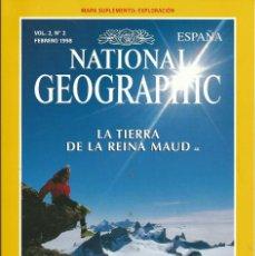 Coleccionismo de National Geographic: REVISTA NATIONAL GEOGRAPHIC. 1998 VOL 2 Nº2 . . REINA MAUD. AUSTRALIA BICICLETA 2. Lote 56017811