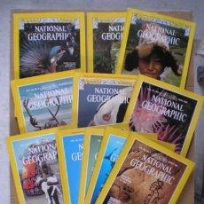 Coleccionismo de National Geographic: NATIONAL GEOGRAPHIC. LOTE DE 11 REVISTAS EN INGLÉS, AÑOS 1974-1981. Lote 57300687