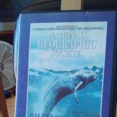 Coleccionismo de National Geographic: VHS - BALLENAS Y EL MUNDO DE CORAL - NATURALEZA AZUL 3. Lote 58095618