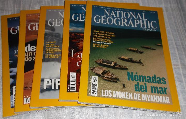 CINCO REVISTAS NATIONAL GEOGRAPHIC 2005 (Coleccionismo - Revistas y Periódicos Modernos (a partir de 1.940) - Revista National Geographic)