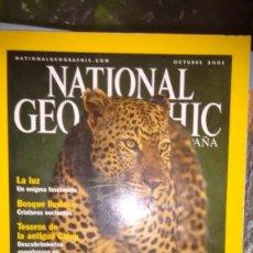 Collezionismo di National Geographic: REVISTA NATIONAL GEOGRAPHIC OCTUBRE 2001 TRAS EL RASTRO DEL LEOPARDO. Lote 59870212