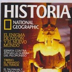 Coleccionismo de National Geographic: HISTORIA Y VIDA - Nº 11 - TAJ MAHAL - TIBERIO - ESPARTA - EL ENIGMA DE COLON. Lote 61185187