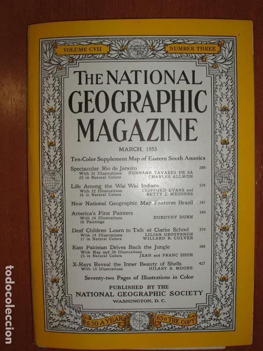 THE NATIONAL GEOGRAPHIC MAGAZINE , ED. USA, JUNE 1955 - EN INGLÉS. INCLUYE MAPA SUPLEMENTO. (Coleccionismo - Revistas y Periódicos Modernos (a partir de 1.940) - Revista National Geographic)