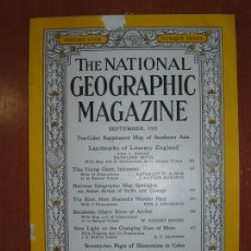 Coleccionismo de National Geographic: THE NATIONAL GEOGRAPHIC MAGAZINE , ED. USA, SETEMBER 1955 - EN INGLÉS. . Lote 75025591