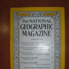 Coleccionismo de National Geographic: THE NATIONAL GEOGRAPHIC MAGAZINE , ED. USA, FEBRUARY 1955 - EN INGLÉS. . Lote 75026099