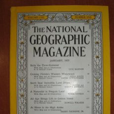 Coleccionismo de National Geographic: REVISTA THE NATIONAL GEOGRAPHIC MAGAZINE , ED. USA, JANUARY 1955 - EN INGLÉS.. Lote 213260887