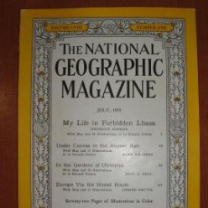 Coleccionismo de National Geographic: REVISTA THE NATIONAL GEOGRAPHIC MAGAZINE , ED. USA, JULY 1955 - EN INGLÉS. . Lote 75026663