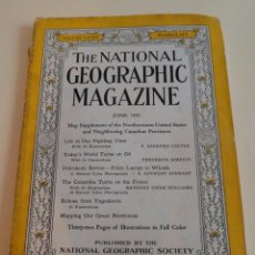 Coleccionismo de National Geographic: THE NATIONAL GEOGRAPHIC MAGAZINE. Nº 6. VOLUME LXXI. JUNE 1941. Lote 90683085